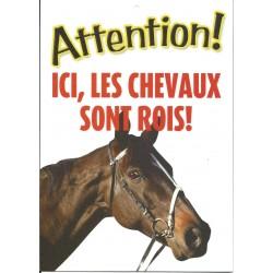 """Panneau """"Ici les chevaux sont rois"""""""