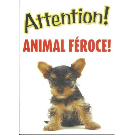 "Panneau ""Attention York animal féroce"""