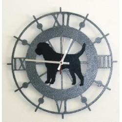 Horloge murale en acier vieilli à l'effichie de votre chien préféré