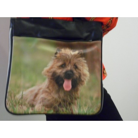 SAC A MAIN DECORE D'UNE PHOTO DE CAIRN TERRIER
