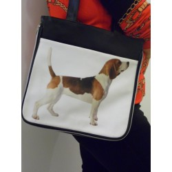 SAC A MAIN DECORE D'UNE PHOTO DE BEAGLE