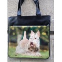 SAC A MAIN DECORE D'UNE PHOTO DE SCOTTISH TERRIER