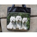 SAC A MAIN DECORE D'UNE PHOTO DE WESTIE