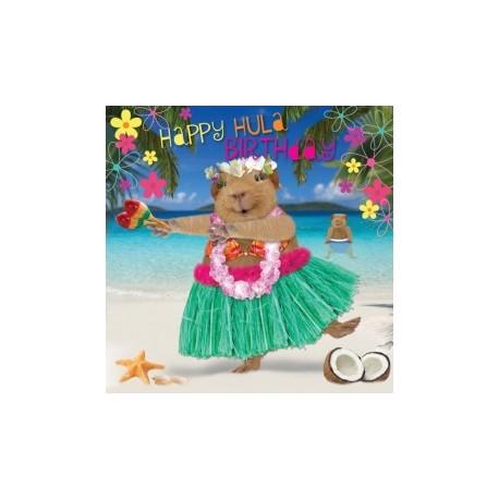 Carte postale représentant un cochon d'Inde des îles