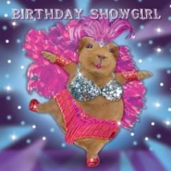 Carte postale représentant un cochon d'Inde frou frou