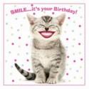 Carte postale représentant le sourire du chat