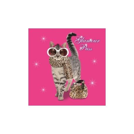 Carte postale représentant le chat glamour