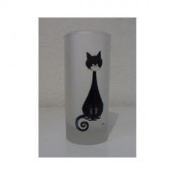 VERRE CHAT DUBOUT - QUEUE SPIRALE