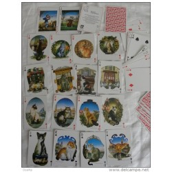 Jeu de 54 cartes ATOUT CHAT BERNARD VERCRUYCE