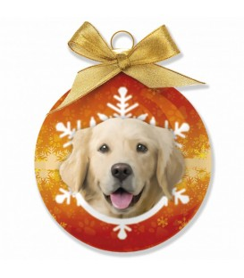 BOULE DE NOEL A L'EFFIGIE DU GOLDEN RETRIEVER