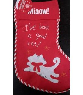 Chaussette de Noël spécial chat (modèle 1)