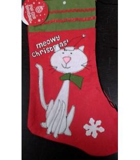 Chaussette de Noël spécial chat (modèle 2)