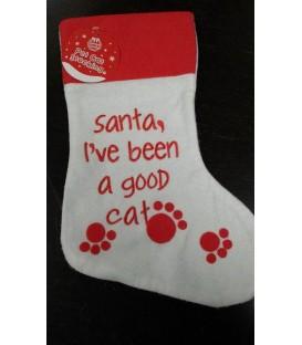 Chaussette de Noël spécial chat (modèle 3)