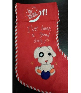 Chaussette de Noël spécial chien (modèle 1)