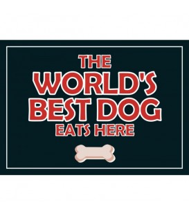 "Set de table ""The world's best dog eats here"""