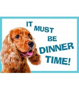 """Set de table Cocker """"Il doit bien être l'heure de manger"""""""