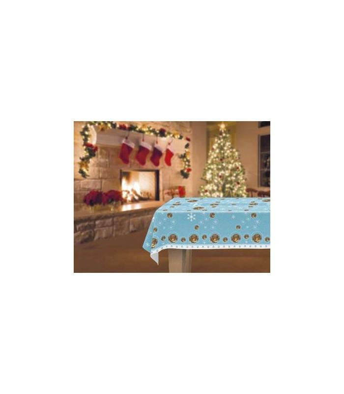 une jolie nappe d cor e d 39 un motif repr sentant une t te de teckel. Black Bedroom Furniture Sets. Home Design Ideas