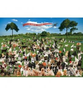 """Puzzle """"Chiens sur l'herbe"""" - 1000 ¨PIECES"""