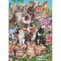 """Puzzle """"Galerie de chats"""""""