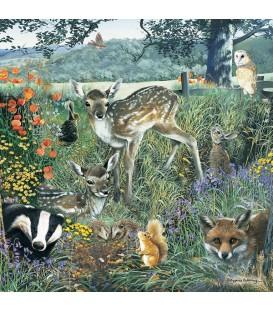"""Puzzle """"Le printemps des animaux sauvages"""" - 1000 ¨PIECES"""