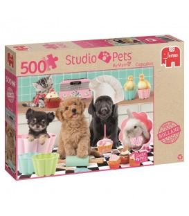 """Puzzle """"Les animaux font des cupcakes"""" - 500 ¨PIECES"""