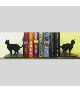 Serre-livres en acier représentant des chats