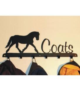 Porte-bottes mural en acier décoré d'une silhouette de chat - 3 paires