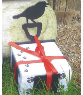 Bloc-notes décoré d'une silhouette de chat