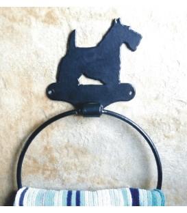 Accroche-torchons décoré d'une silhouette de chat