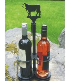 Porte-bouteilles décoré d'une silhouette de chat