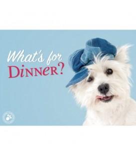 """Set de table """"qu'est-ce qu'ily a à manger ?"""" (westie)"""