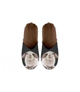 Paire de pantoufles motif lapin. Taille 39/42