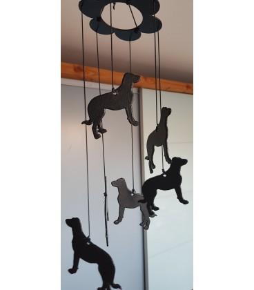 Carillon à vent à l'effigie du dandie dinmont terrier
