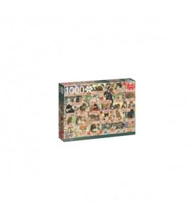 """Puzzle """"Chats romantiques de Francien"""" - 1000 ¨PIECES"""