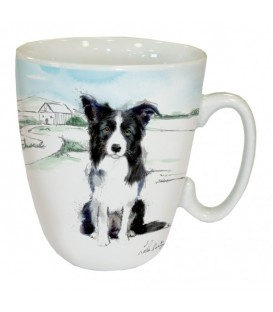 MUG BORDER COLLIE A LA CAMPAGNE