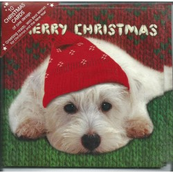 10 Cartes de Noël Westie et leurs enveloppes