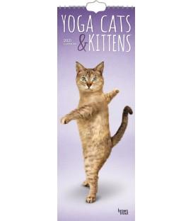 Yoga des chats et des chatons 2021 (calendrier étroit)