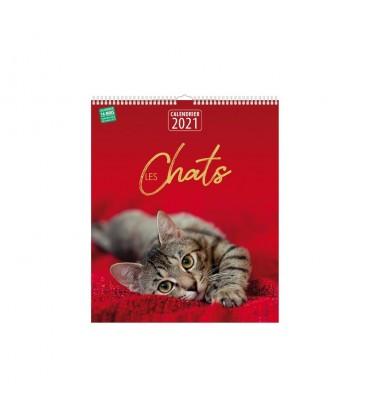 """Calendrier """"Les chats"""" - 2021 Le livre club"""