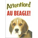 "Panneau ""Attention au beagle"""