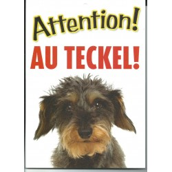 "Panneau ""Attention au teckel"""