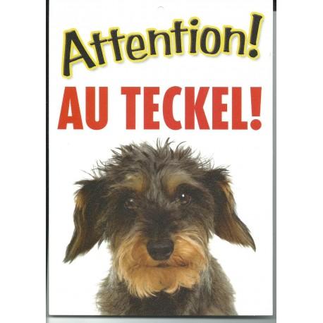 """Panneau """"Attention au dogue de Bordeaux"""""""