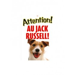 "Panneau ""Attention au jack russell terrier"""