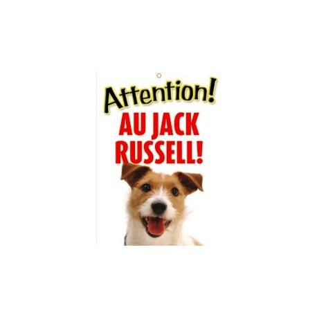 "Panneau ""Attention au jack russell terrier"""