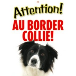 "Panneau ""Attention au border collie"""