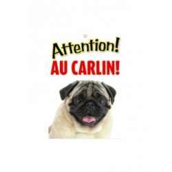 "Panneau ""Attention au carlin"""