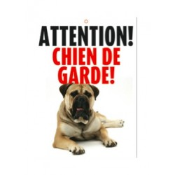 "Panneau ""Attention chien de garde"""