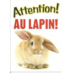 "Panneau ""Attention aux lapin"""
