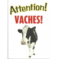 "Panneau ""Attention aux vaches"""