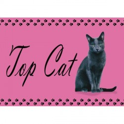 Set de table top cat ( chat noir )